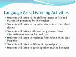 language arts listening activities
