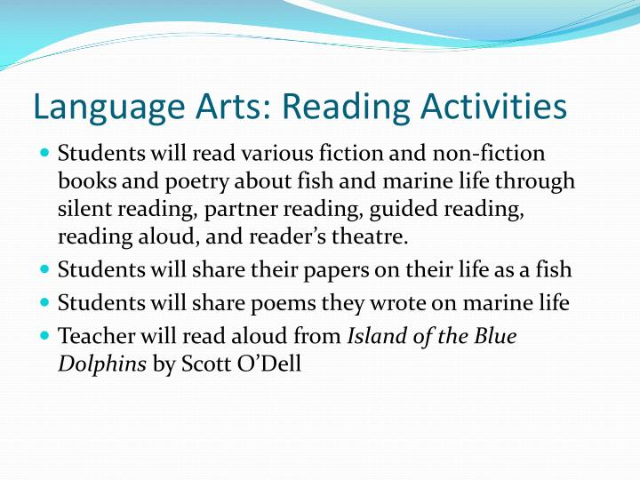 Language Arts: Reading Activities