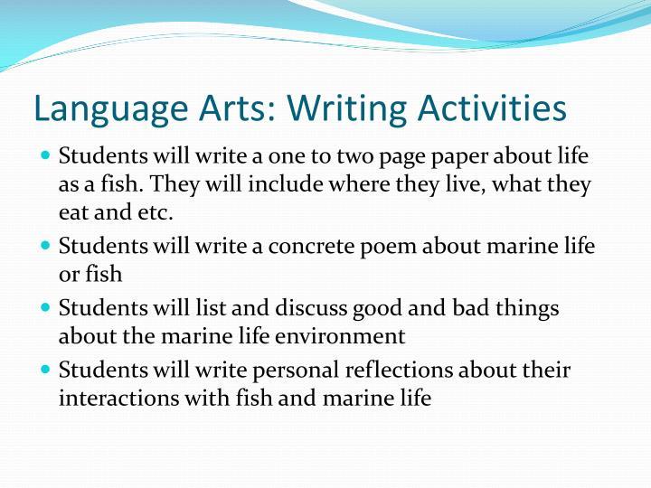 Language Arts: Writing Activities