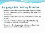 language arts writing activities