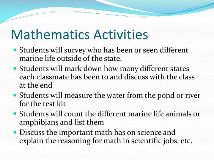 Mathematics Activities