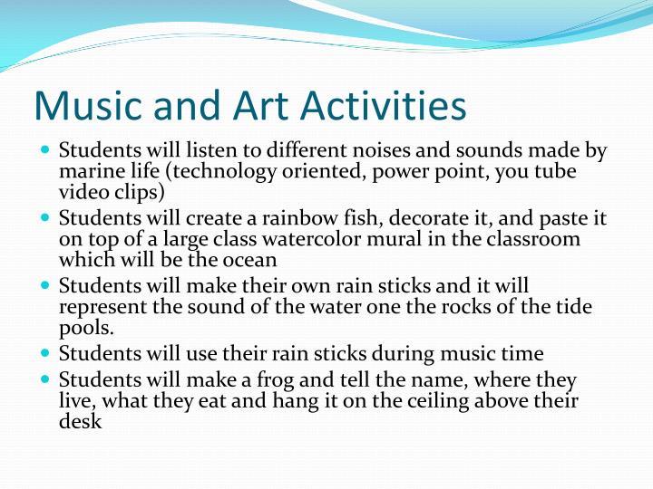 Music and Art Activities