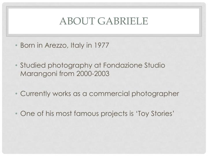 About Gabriele