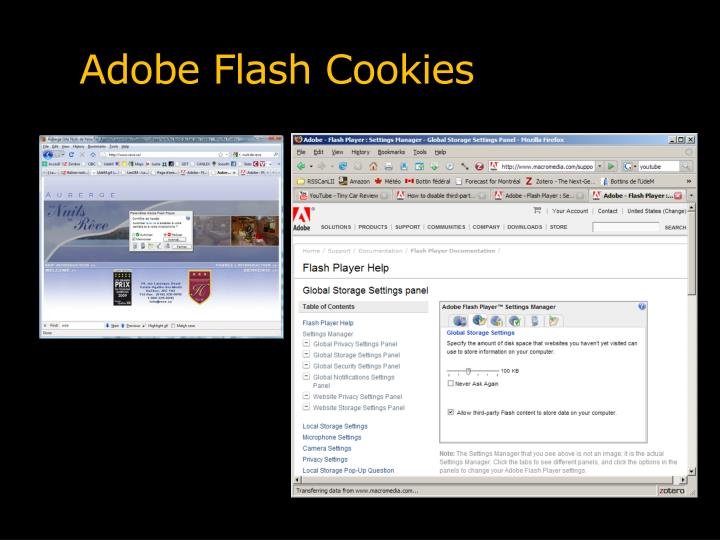 Adobe Flash Cookies