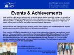 events achievements