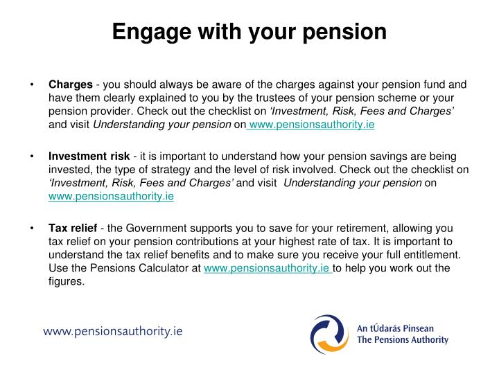 Engage with your pension