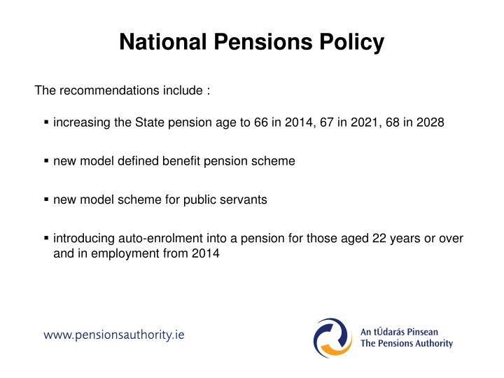 National Pensions Policy