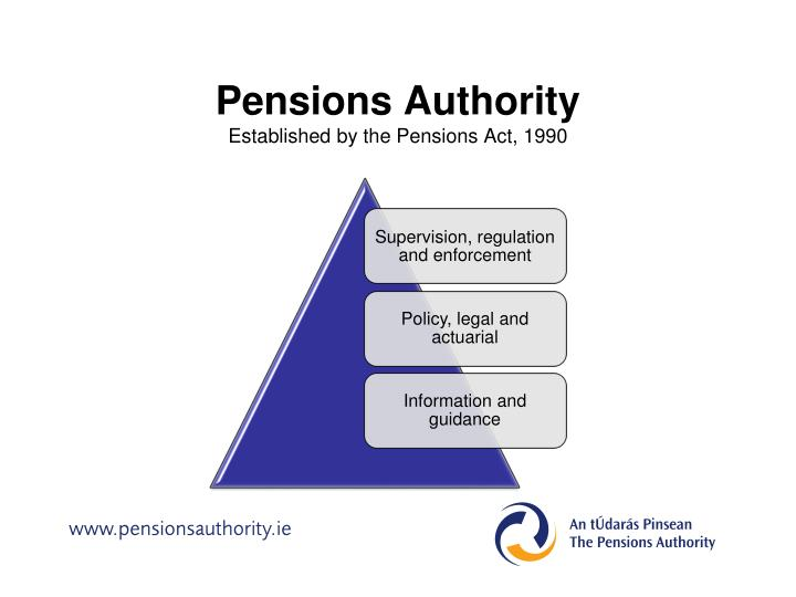 Pensions authority established by the pensions act 1990