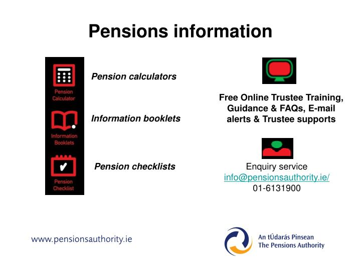 Pensions information