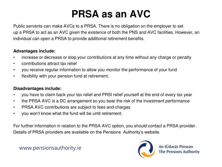 PRSA as an