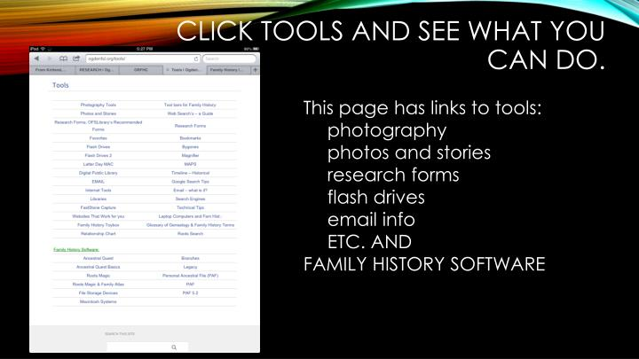 Click Tools and see what you can do.