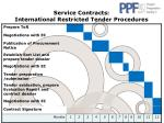 service contracts international restricted tender procedures