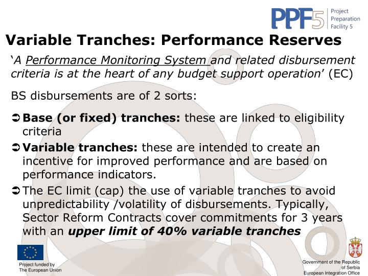 Variable Tranches: Performance Reserves