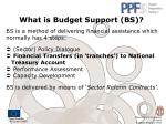 what is budget support bs