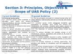 section 3 principles objectives scope of uas policy 2