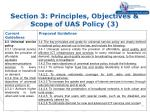 section 3 principles objectives scope of uas policy 3