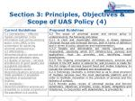 section 3 principles objectives scope of uas policy 4