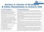section 4 variety of strategies policy mechanisms to achieve uas