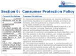 section 9 consumer protection policy