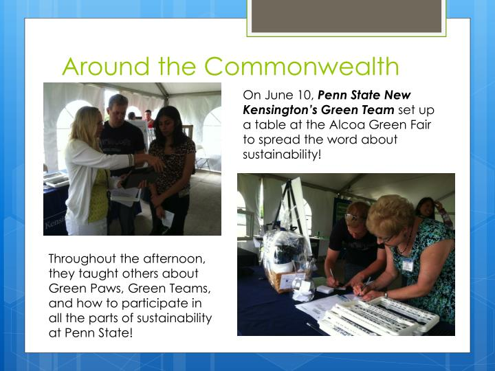 Around the Commonwealth