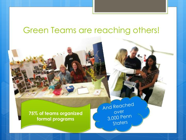Green Teams are reaching others!