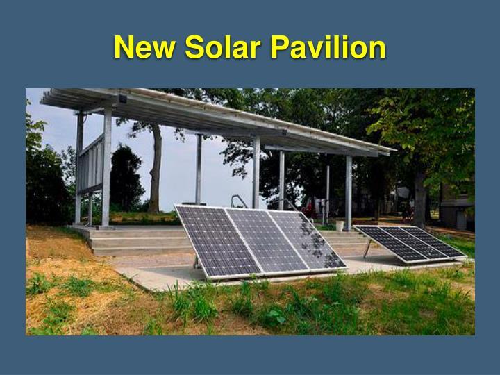 New Solar Pavilion