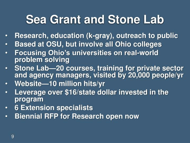 Sea Grant and Stone Lab
