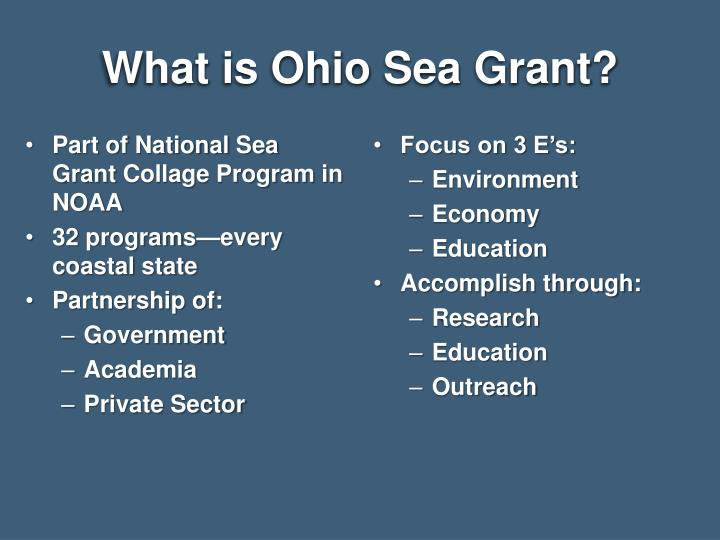What is ohio sea grant
