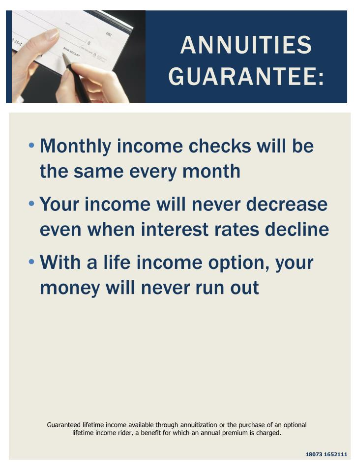 Annuities Guarantee: