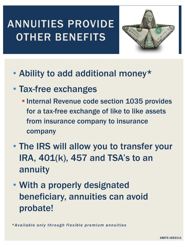 Annuities Provide