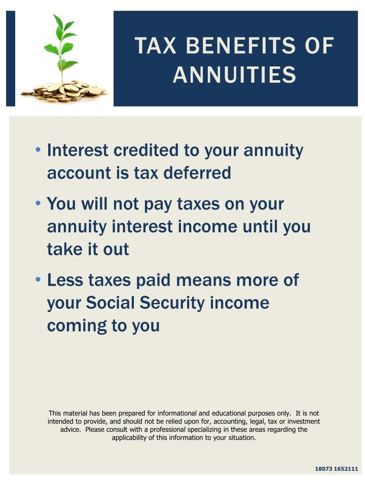Tax Benefits of Annuities
