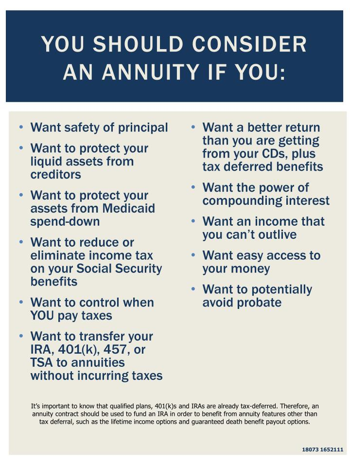 You Should Consider an Annuity If You: