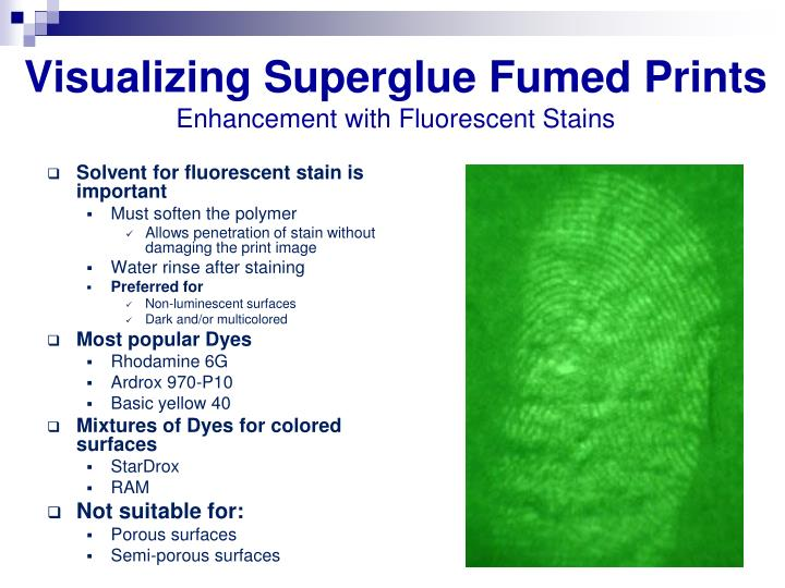 Visualizing Superglue Fumed Prints