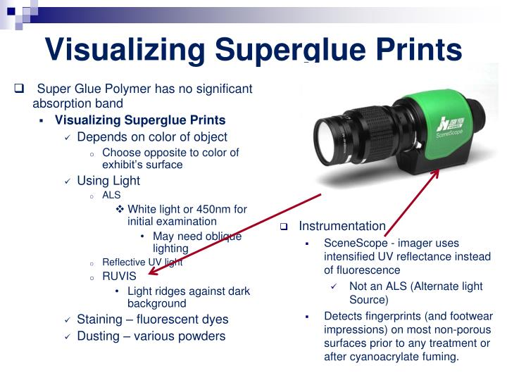Visualizing Superglue Prints