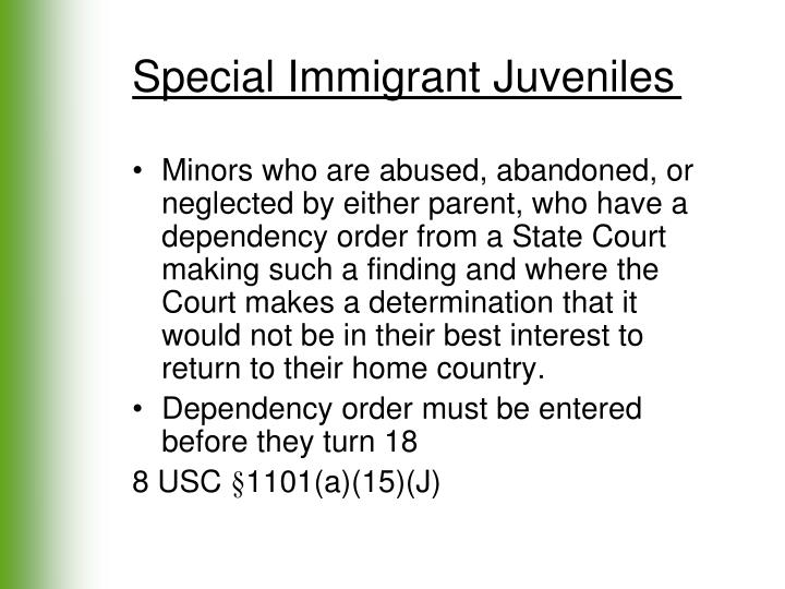 Special Immigrant Juveniles