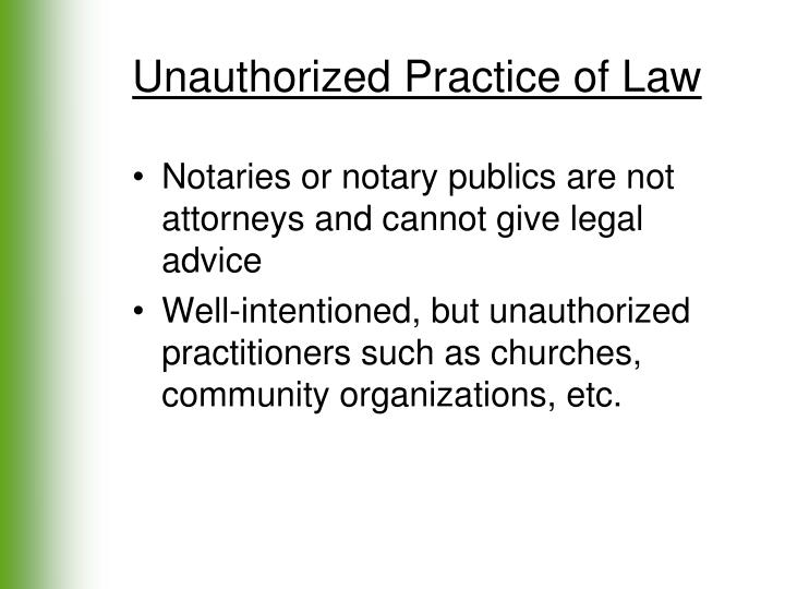 Unauthorized Practice of Law