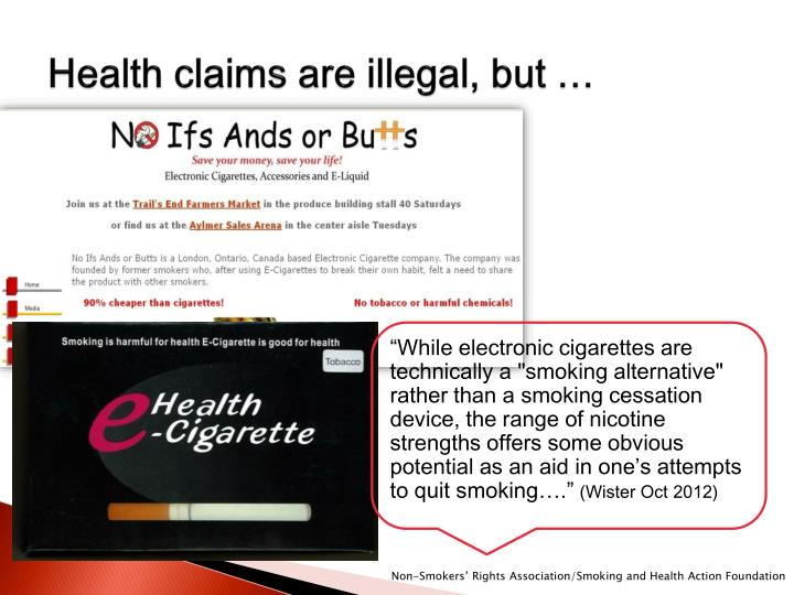 Health claims are illegal, but …