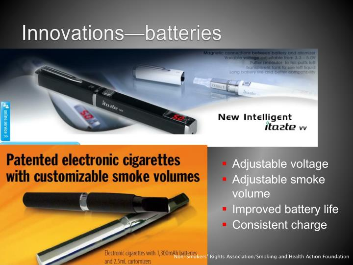 Innovations—batteries