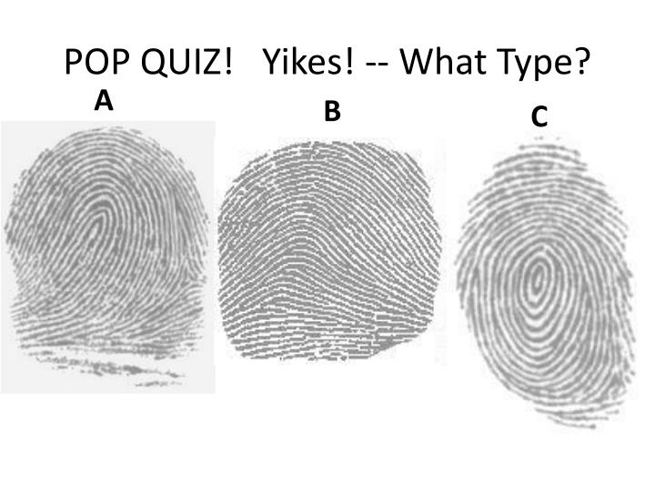 POP QUIZ!   Yikes! -- What