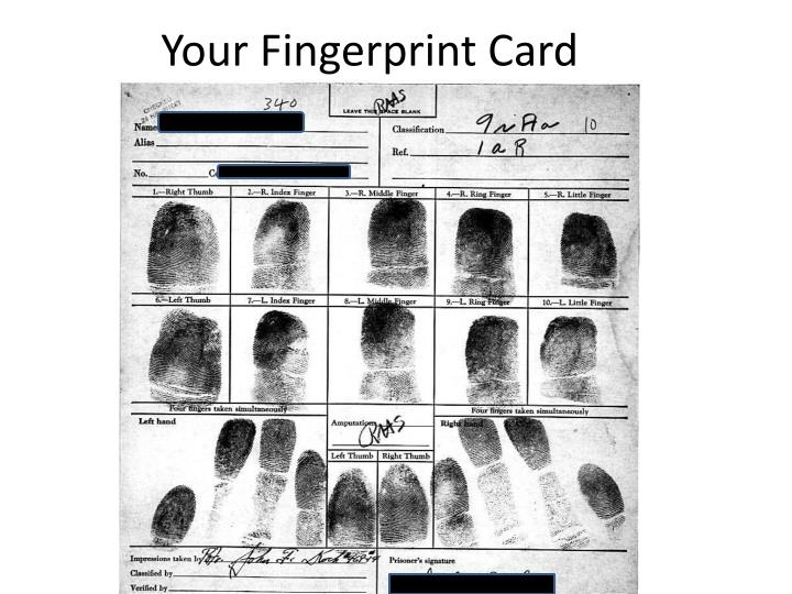 Your Fingerprint Card