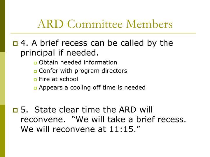 ARD Committee Members