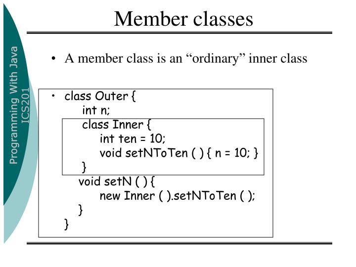 Member classes