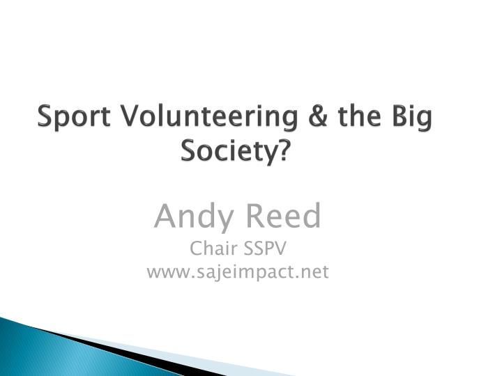 Sport volunteering the big society