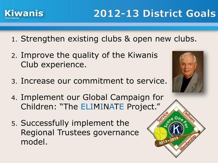 2012-13 District Goals