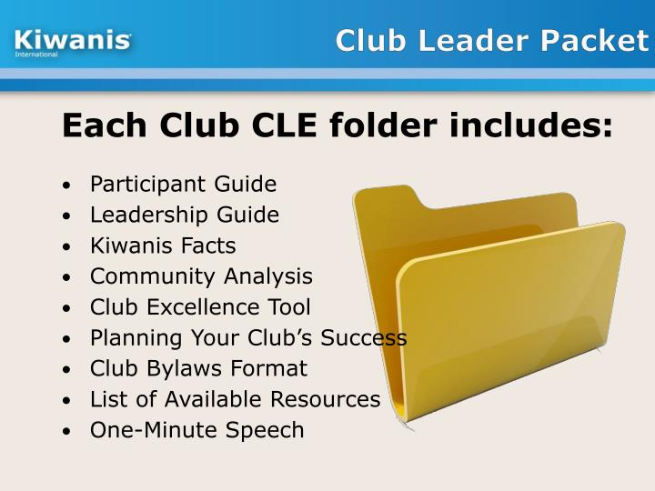 Club Leader Packet
