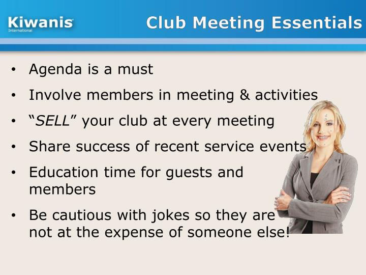 Club Meeting Essentials