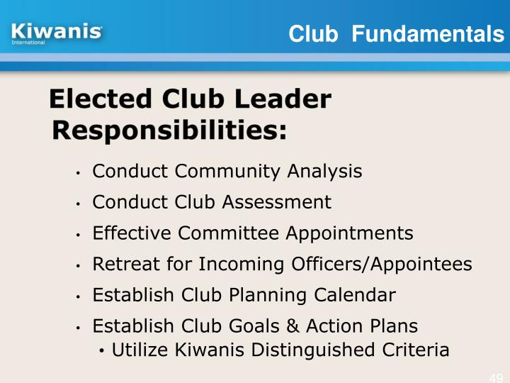 Elected Club Leader