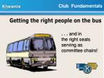 getting the right people on the bus