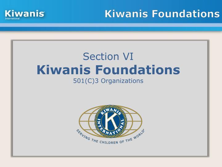 Kiwanis Foundations