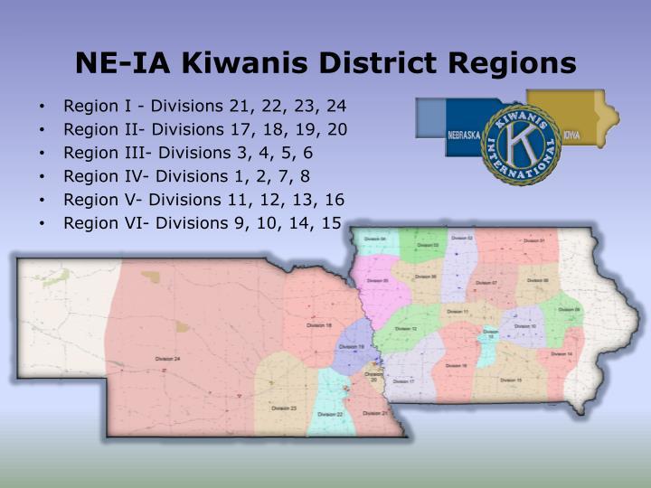 NE-IA Kiwanis District Regions